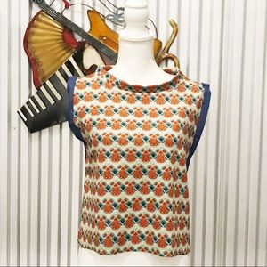 Zara W/B Collection Multicolor Printed Chic Blouse